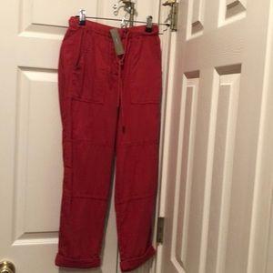 J Crew 100% Cotton Lightweight Cargo Pants